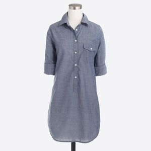 J. Crew Factory Chambray Popover Tunic, Large